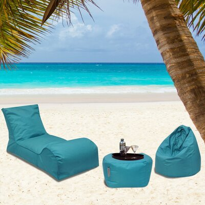 Summer Days 3 Piece Bean Bag Set Upholstery: Teal