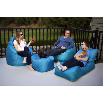 Summer Days 4 Piece Bean Bag Set Upholstery: Teal