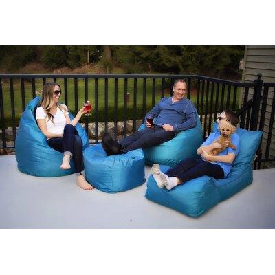 Summer Days 4 Piece Bean Bag Set Upholstery: Teal
