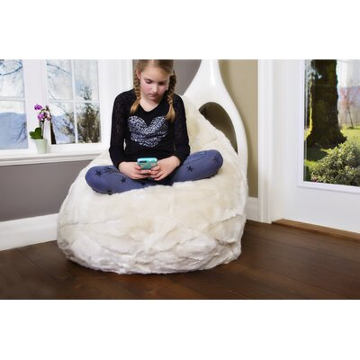 Posh Bean Bag Chair Upholstery: Cream