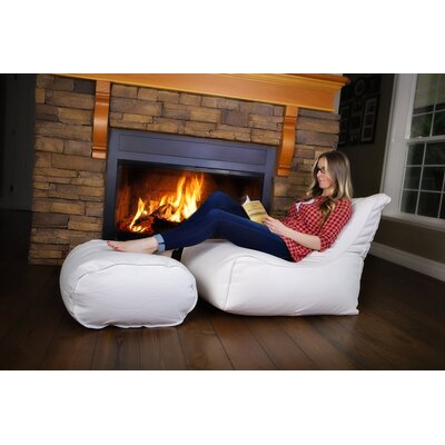 Zen Bean Bag Set Upholstery: White