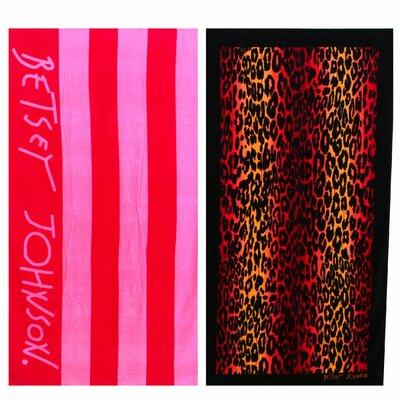 Cabana Stripe and Leopard Stripe 2 Piece Towel Set