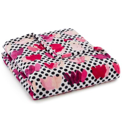 Painted Heart Polyester Throw