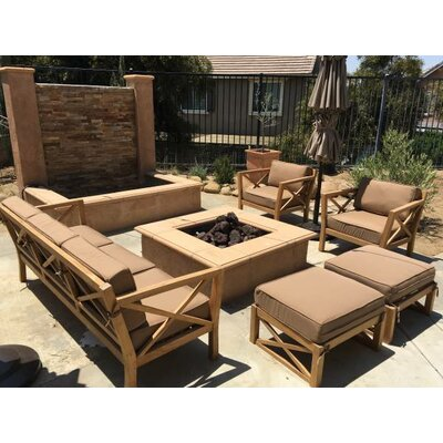 LA 5 Piece Teak Seating Set