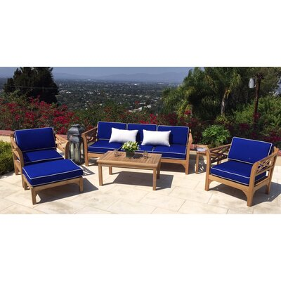 Malibu Erson 5 Piece Deep Seating Group with Cushion