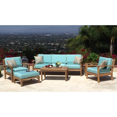 Waterford Person Teak 5 Piece Deep Seating Group with Cushion