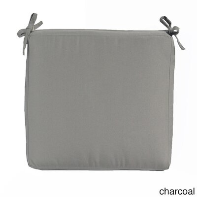 Outdoor Sunbrella Dining Chair Cushion Fabric: Charcoal