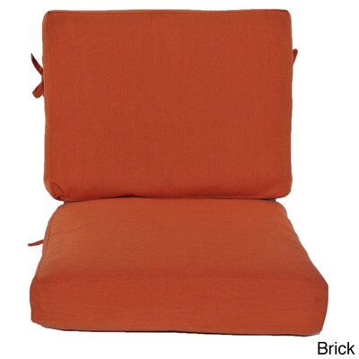 Outdoor Sunbrella Chair Cushion Fabric: Brick, Size: 24 W x 26 D