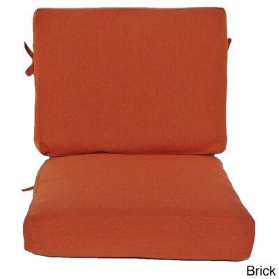 Outdoor Sunbrella Chair Cushion Fabric: Brick, Size: 23 W x 25 D