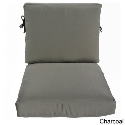 Outdoor Sunbrella Chair Cushion Fabric: Charcoal, Size: 23 W x 25 D