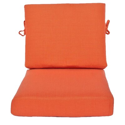 Outdoor Sunbrella Chair Cushion Fabric: Sangria, Size: 24 W x 26 D