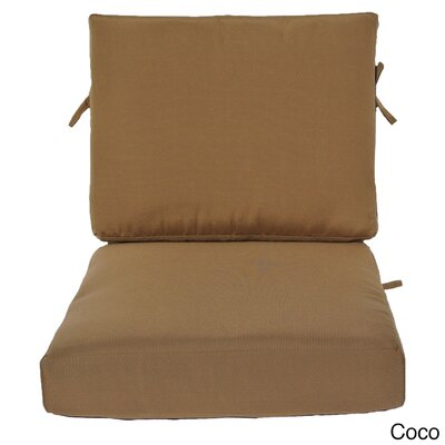 Outdoor Sunbrella Chair Cushion Fabric: Cocoa, Size: 24 W x 26 D