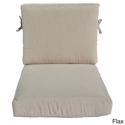 Outdoor Sunbrella Chair Cushion Fabric: Flax, Size: 23 W x 25 D