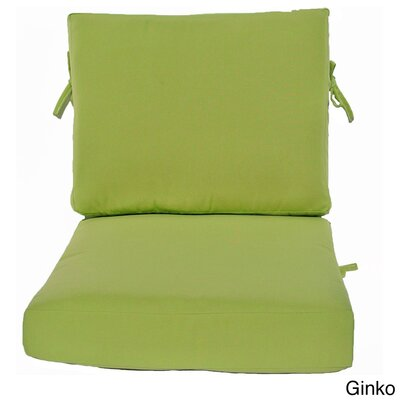 Outdoor Sunbrella Chair Cushion Fabric: Ginko, Size: 26 W x 30 D