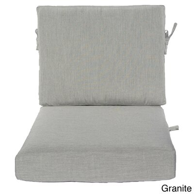 Outdoor Sunbrella Chair Cushion Fabric: Granite, Size: 23 W x 25 D