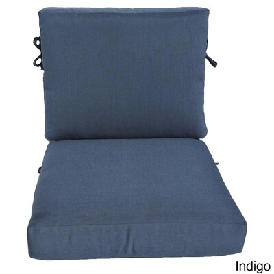 Outdoor Sunbrella Chair Cushion Fabric: Indigo, Size: 23 W x 25 D
