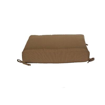 Outdoor Sunbrella Dining Chair Cushion Fabric: Cocoa