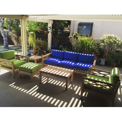Malibu 6 Piece Teak Outdoor Seating Group