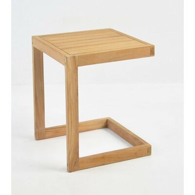 Teak Slider Side Table