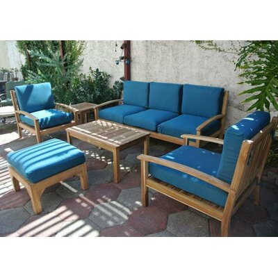 Waterford Teak 6 Piece Deep Seating Group with Cushion
