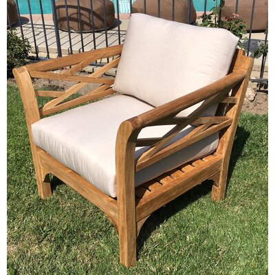Malibu 4 Piece Deep Seating Group with Cushion Fabric: Flax