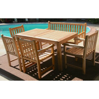 6 Piece Dining Set with Cushions Cushion Color: Terra Cotta