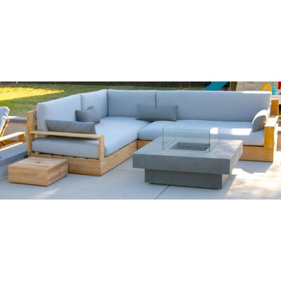 Bale 3 Piece Deep Seating Group with Cushion Fabric: Granite