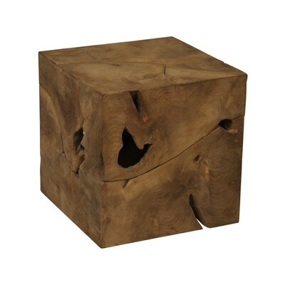 Teak Root Cube End Table
