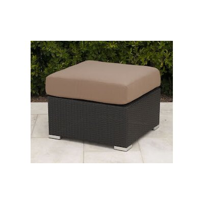 Wicker Ottoman with Cushion