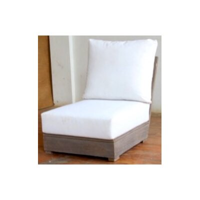 Constance Teak Outdoor Sectional Armless Chair with Cushions Fabric: Natural