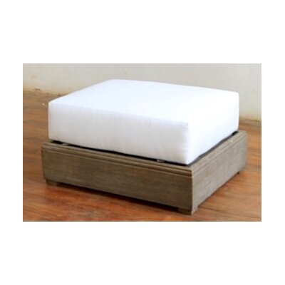 Constance Teak Outdoor Ottoman with Cushion Color: True Blue