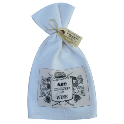 Golden Hill Studio Age Improves with Wine Flour Sack Towel (Set of 3)