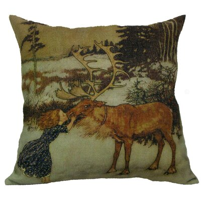 Gerta and Reindeer Throw Pillow