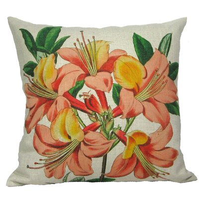 Pink Lily Pillow Cover