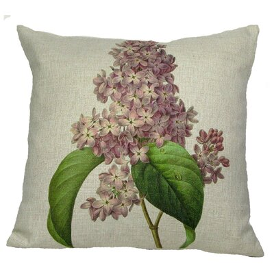 Pink Lilac Throw Pillow