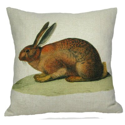 Brown Bunny Pillow Cover