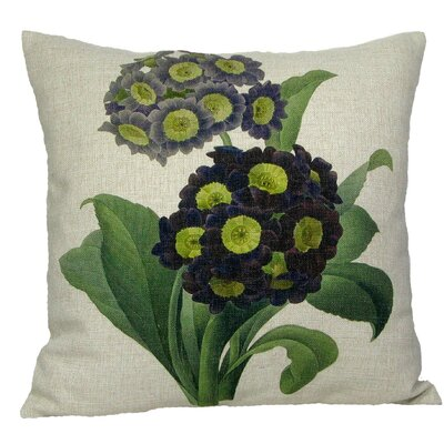 Purple Primrose Throw Pillow