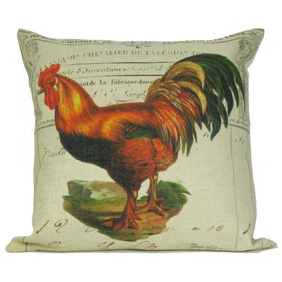 Tail Rooster Throw Pillow