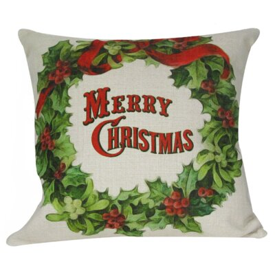 Christmas Wreath Pillow Cover