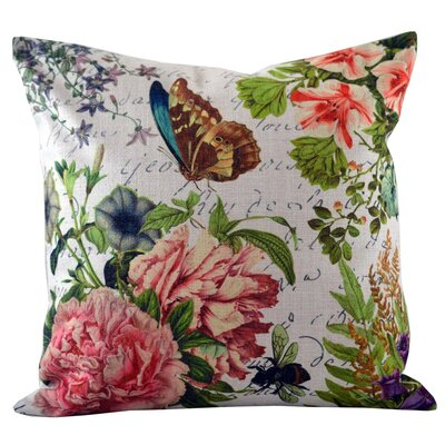 Butterfly Floral Throw Pillow Cover