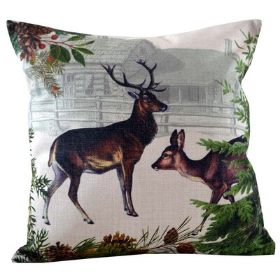 Deer and Doe Throw Pillow Cover