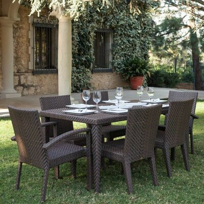 Soho 7 Piece Dining Set Fabric: No Cushion