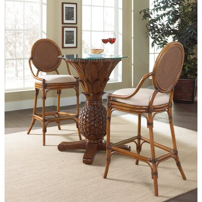 Oyster Bay 3 Piece Pub Table Set Finish: Seaworthy Coral Red