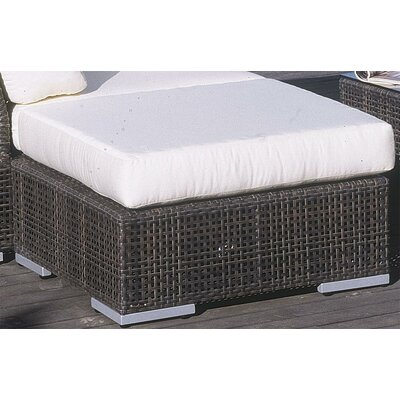 Soho Ottoman with Cushion Fabric: Regency Sand, Finish: Java Brown