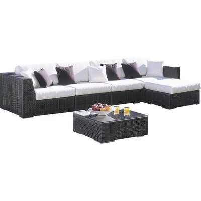 Soho 6 Piece Deep Seating Group with Cushions Fabric: Cabaret Blue Haze