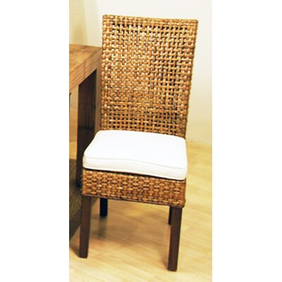 Hospitality Rattan Pegasus Dining Side Chair with Cushion - Fabric: Everglades Paramount Spice