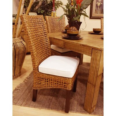 Low Price Hospitality Rattan Pegasus Side Chair Upholstery: Patriot Cadet