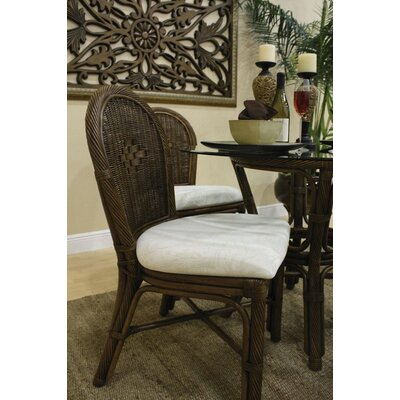 Low Price Hospitality Rattan Key West Side Chair Upholstery: Rave Lemon