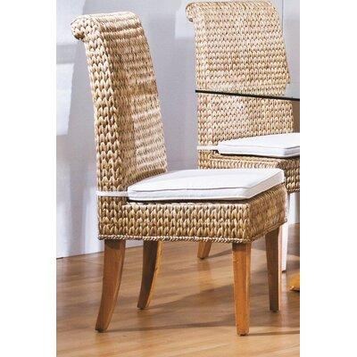 Low Price Hospitality Rattan Sea Breeze Side Chair Upholstery: Dots