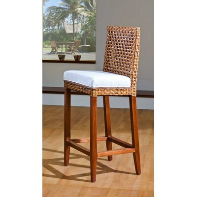 Pegasus Indoor Rattan and Wicker Bar Stool in Natural